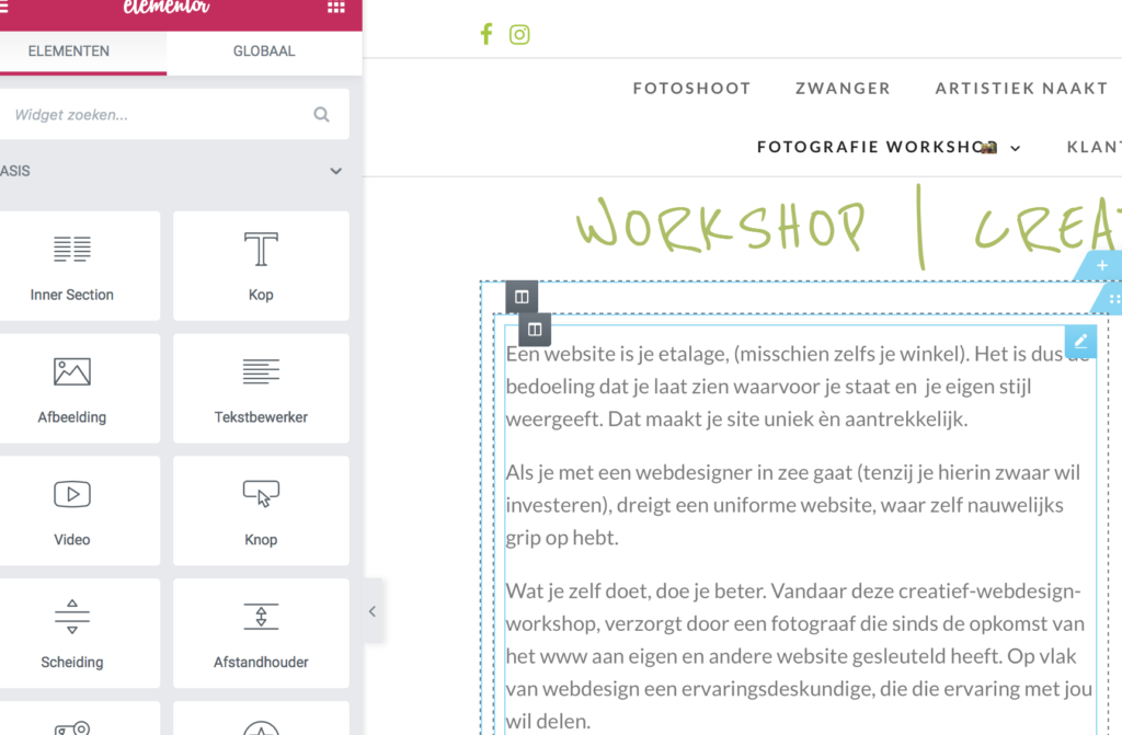 workshop webdesign